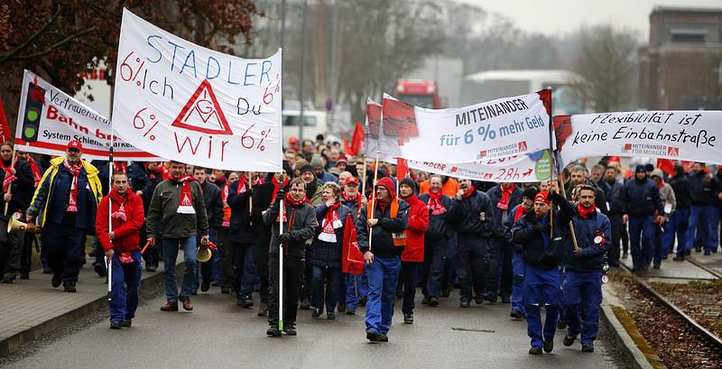 Resultado de imagem para ig metal greve na alemanha