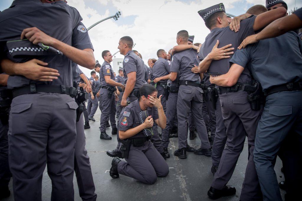 Formatura do Curso Superior de Soldados. emoção dos novos policiais durante formatura Local: São Paulo/SP Data: 23/11/2018. Foto: Governo do Estado de SP